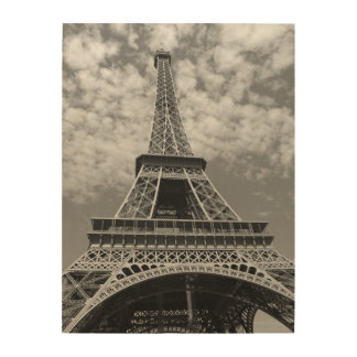 Classic Black and White Eiffel Tower Wood Wall Decor