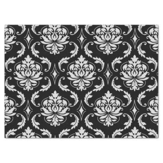 Classic Black and White Floral Damask Pattern Tissue Paper