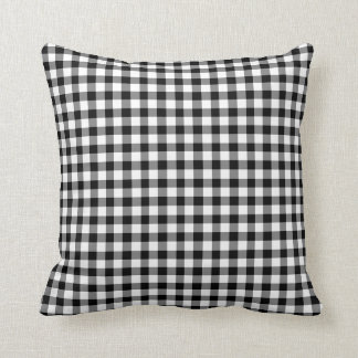 Classic Black And White Gingham Checked Pattern Cushion