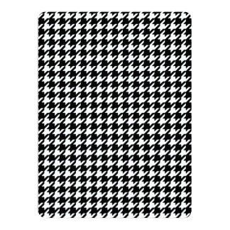 Classic Black and White Houndstooth Pattern 17 Cm X 22 Cm Invitation Card
