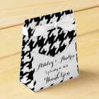 Classic Black and White Houndstooth Pattern Favour Box