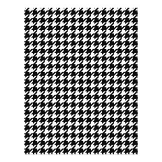 Classic Black and White Houndstooth Pattern Flyers
