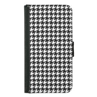 Classic Black and White Houndstooth Pattern Samsung Galaxy S5 Wallet Case