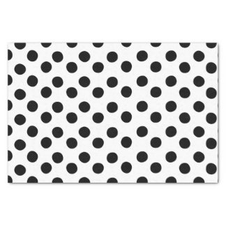 Classic Black and White Polka Dot Tissue Paper