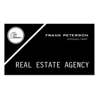 classic black and white real estate agency pack of standard business cards