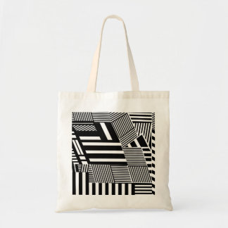Classic Black and White Stripe Budget Tote Bag
