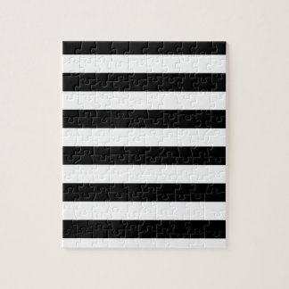 CLASSIC BLACK AND WHITE STRIPES JIGSAW PUZZLE