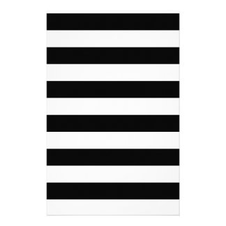 CLASSIC BLACK AND WHITE STRIPES STATIONERY