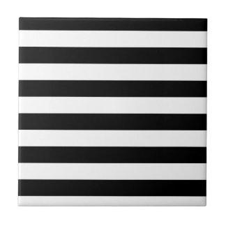 CLASSIC BLACK AND WHITE STRIPES TILE