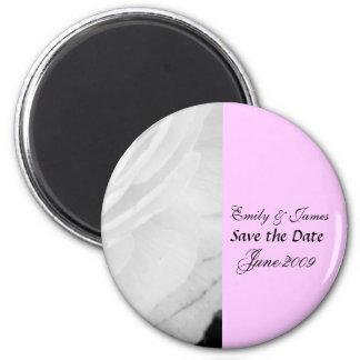 Classic Black and White Wedding 6 Cm Round Magnet