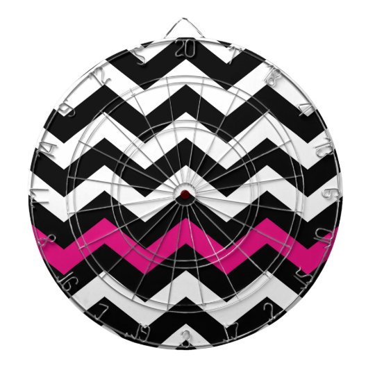 Classic Black and White Zigzag With Hot Pink