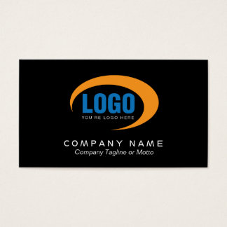 Classic Black Business Card With Logo