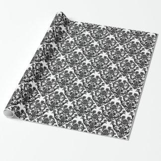 Classic Black Damask Pattern Gift Wrap