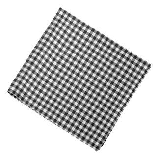 Classic Black Gingham Check Pattern Bandana