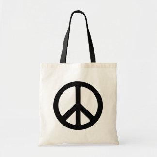 Classic Black Groovy Peace Symbol