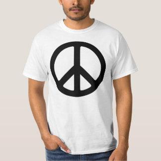 Classic Black Groovy Peace Symbol T-Shirt