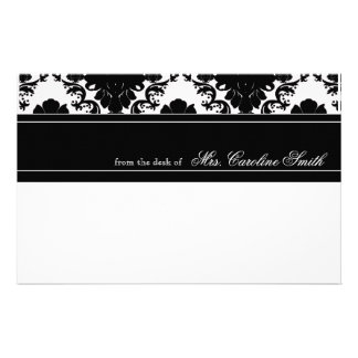 Classic Black Lace Personalized Customised Stationery
