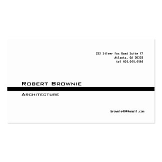Classic Black Line Business Card