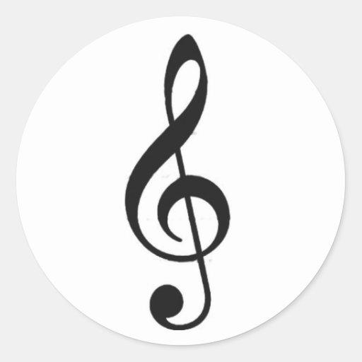 classic, black, music, note, sticker