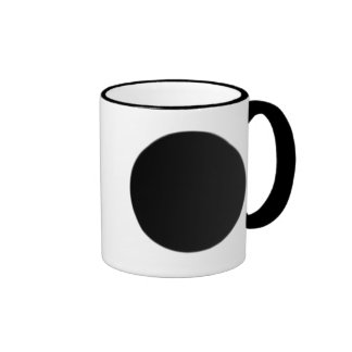 classic Black SpotDot Ringer Mug