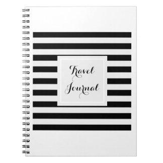 Classic Black & White Travel Journal