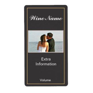 Classic Black Wine Label Shipping Label