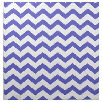 Classic Blue and White Chevrons Napkin