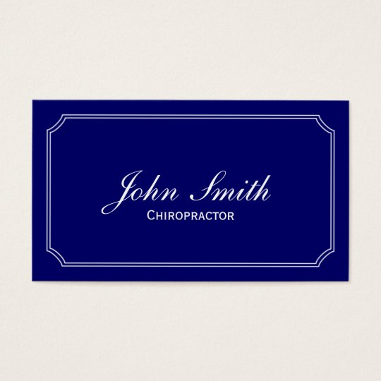 Classic Blue Chiropractor Business Card