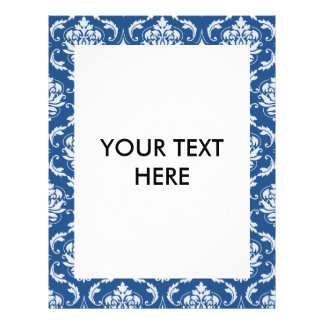 Classic Blue Damask Pattern 21.5 Cm X 28 Cm Flyer