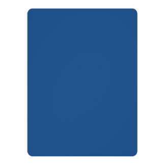 """Classic Blue High End Solid Color 6.5"""" X 8.75"""" Invitation Card"""
