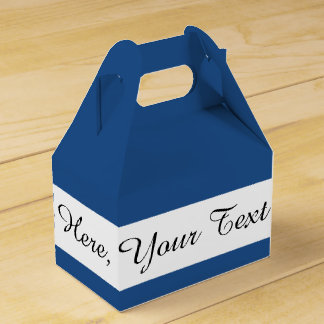 Classic Blue High End Solid Color Wedding Favour Box