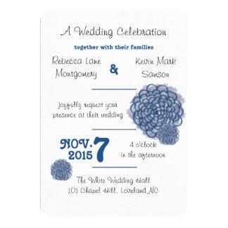 Classic Blue Hydrangea Wedding Invitation