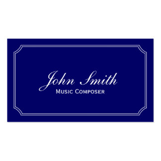 Classic Blue Music Composer Business Card