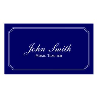Classic Blue Music Teacher Business Card