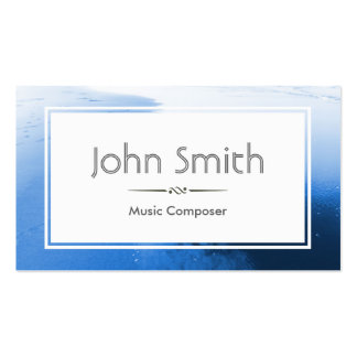 Classic Blue Ocean Music Composer Business Card