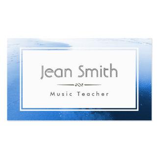 Classic Blue Ocean Music Teacher Business Card