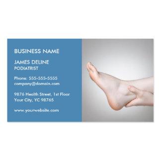 Classic Blue Podiatrist Business Card Template
