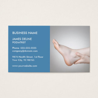 Classic Blue Podiatrist Business Card Template