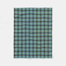 Classic Blue Scottish Clan Bell Tartan Plaid Fleece Blanket