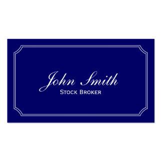 Classic Blue Stock Broker Business Card