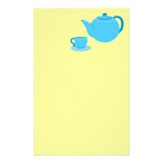 Classic Blue Teapot Customized Stationery