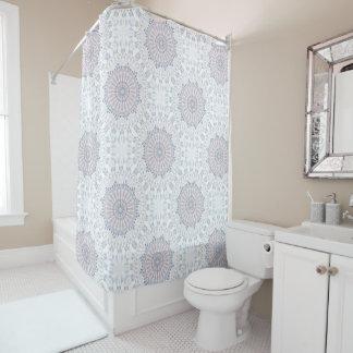 Classic Blue White Mandala Pattern Shower Curtain