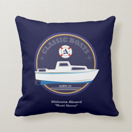 Classic Boats - Albin 25 throw cushion