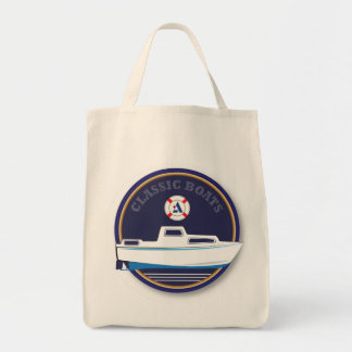 classic Boats - Albin Grocery Tote Bag