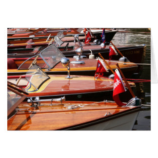 Classic Boats greeting card. Note Card