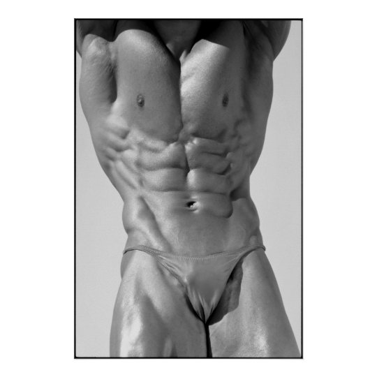 Classic Bodybuilder Pose Gym Wall Poster