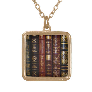 classic books necklace