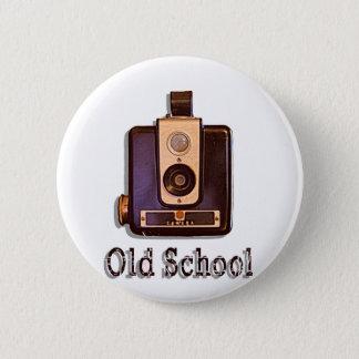 Classic Box Camera 1950s - Old School 6 Cm Round Badge