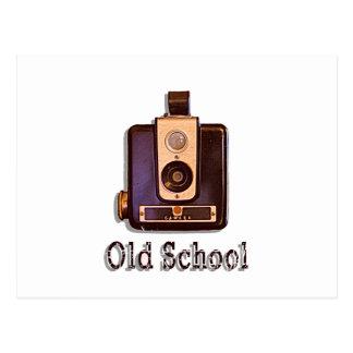 Classic Box Camera 1950s - Old School Postcard