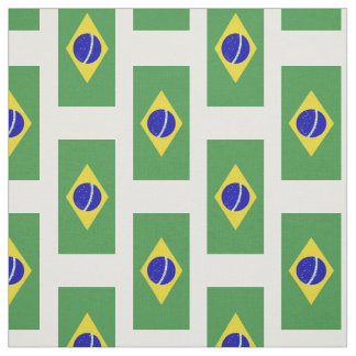 Classic Brazilian Flag Fabric